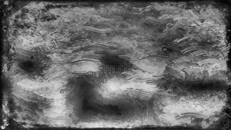 Schwarzes und Grey Glass Effect Paint Background-Bild lizenzfreie abbildung
