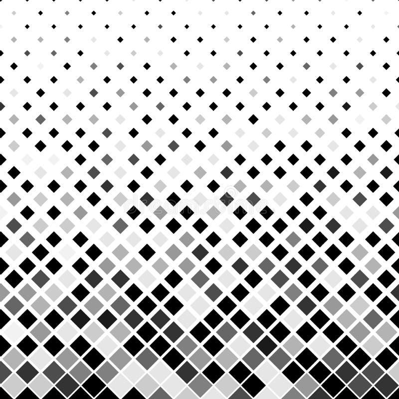 Schwarzes und Grey Squares mit Halbtoneffekt für geometrischen Muster-Hintergrund stock abbildung