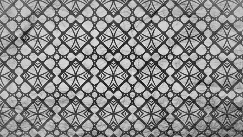 Schwarzes und schöne elegante Illustration Gray Floral Geometric Background Patterns stock abbildung