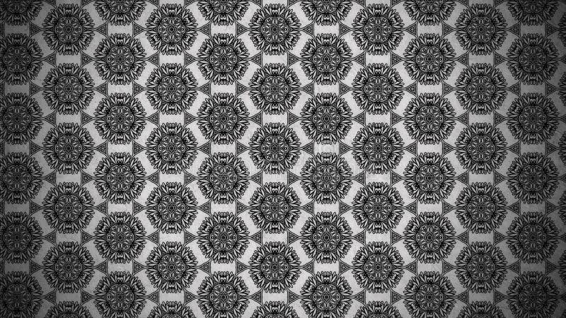Schwarzes und schöner eleganter Hintergrund Entwurf der grafischen Kunst Illustration Grey Vintage Floral Background Patterns lizenzfreie abbildung