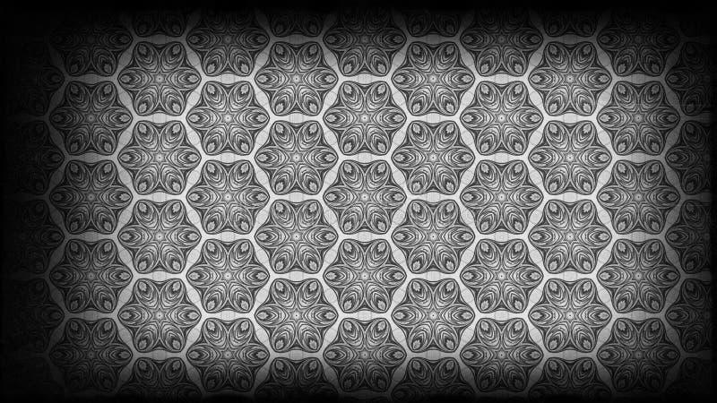 Schwarzes und schöner eleganter Hintergrund Entwurf der grafischen Kunst Illustration Grey Vintage Floral Pattern Backgrounds lizenzfreie abbildung