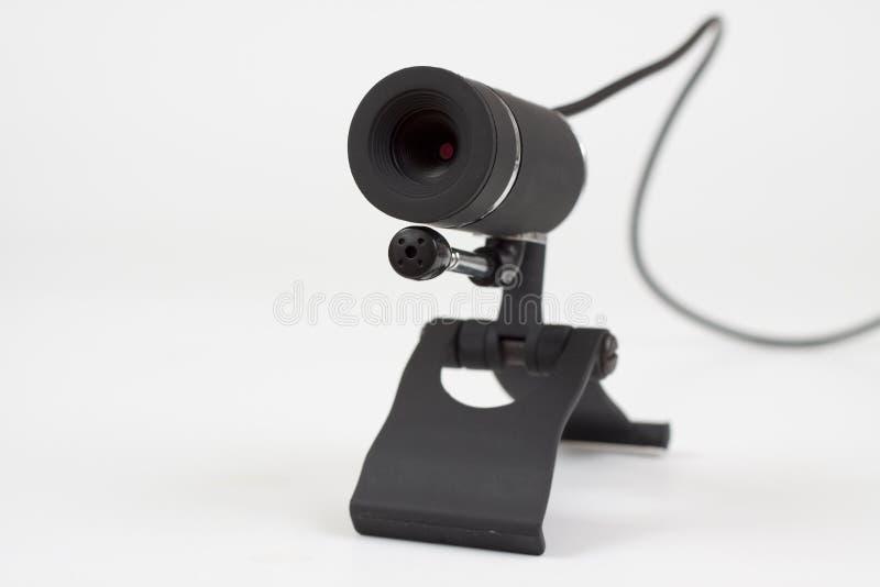 Schwarzes Webcam lizenzfreie stockfotos