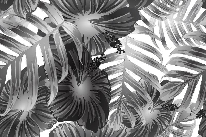 Schwarzes weißes exotisches Muster vektor abbildung