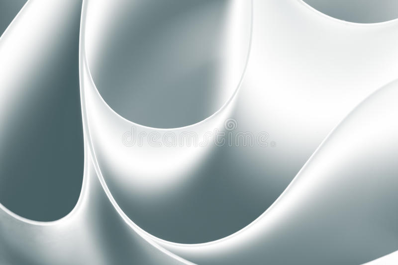 Schwarzes weißes Makro gebogene Blätter Papier lizenzfreie stockfotos