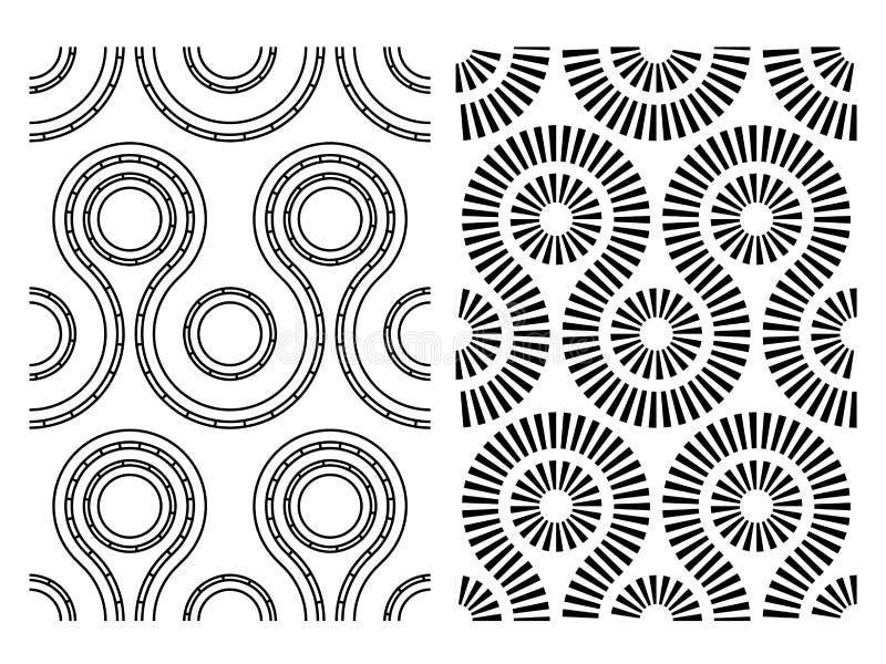 Schwarzes weißes nahtloses abstraktes Muster vektor abbildung