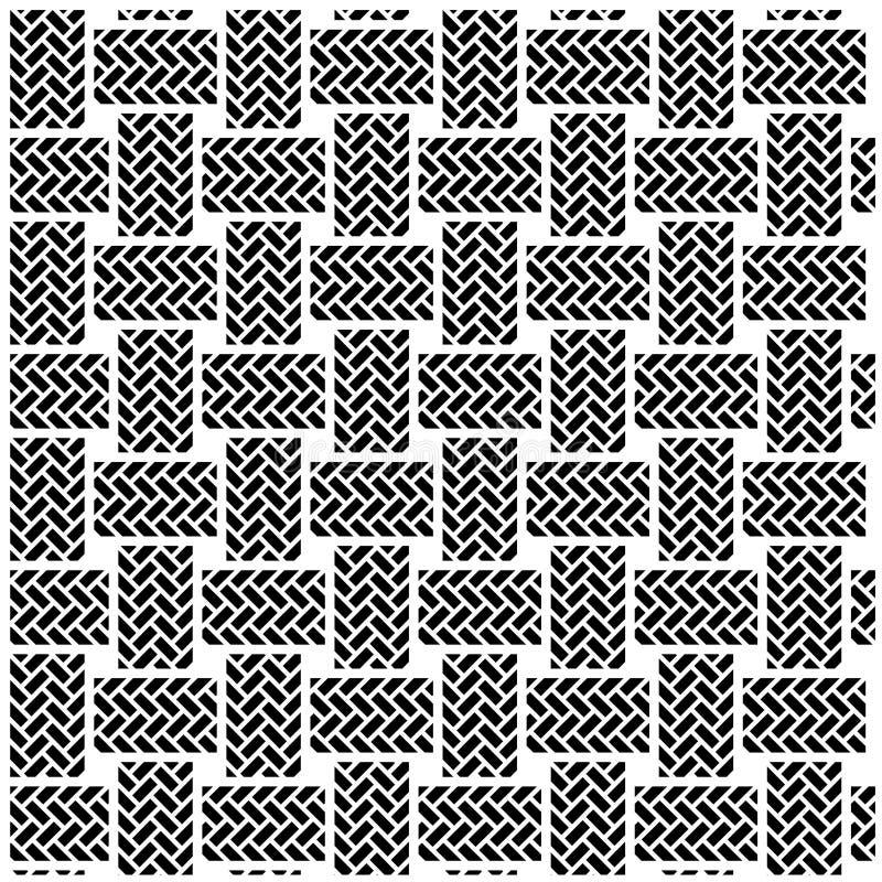 Schwarzes weißes nahtloses Textilmuster vektor abbildung