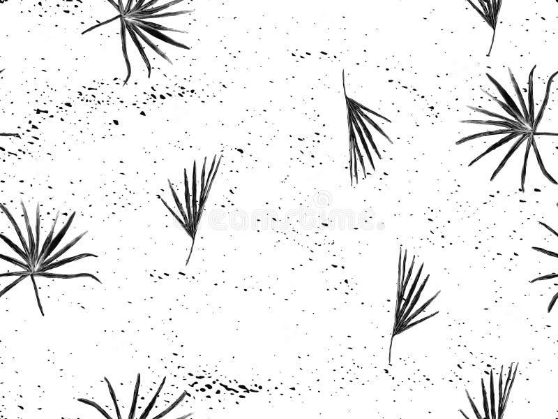 Schwarzes wei?es exotisches Muster stock abbildung