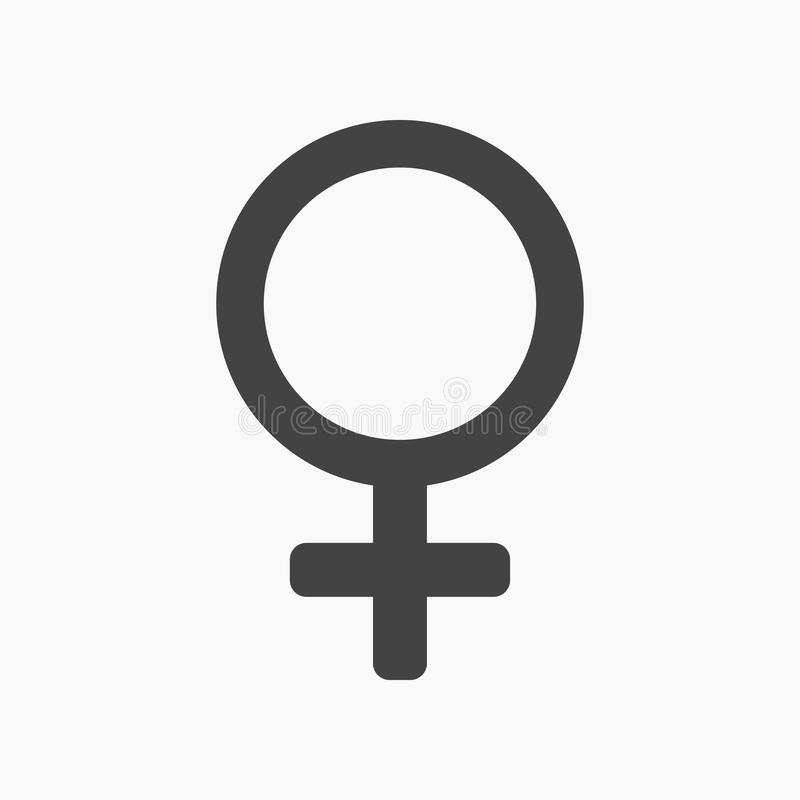Schwarzes weibliches Geschlecht, flache Ikone des Venus stock abbildung