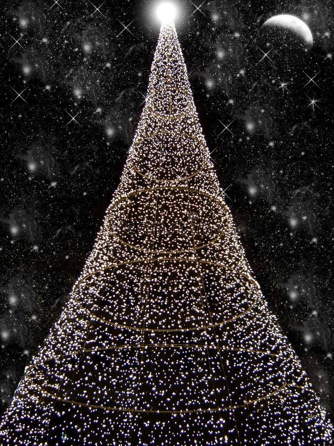 Schwarzes Weihnachten lizenzfreie abbildung