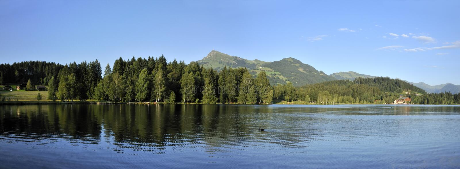 Download Schwarzsee in Austria stock image. Image of resort, mountain - 13915199