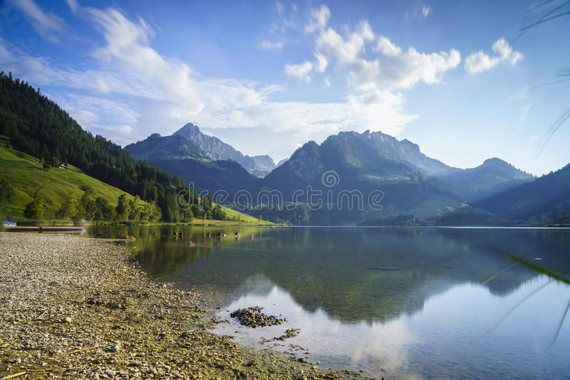 Schwarzsee in Switzerland royalty free stock photos