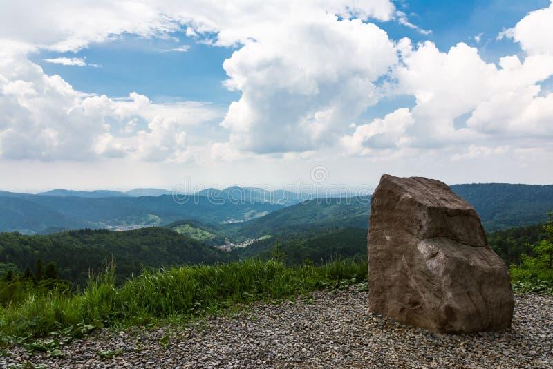 Schwarzwald-Schwarzes Forest Landscape Wiesbach Rock Beautiful Overl lizenzfreie stockbilder