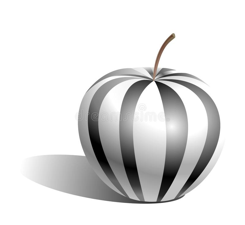 Schwarzweiss-Apfel stockfotos