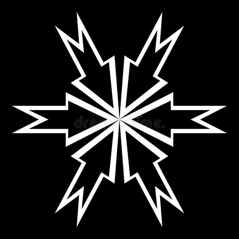 Schwarzweiss-Art Futterhintergrund in der Zusammenfassungs- und Wiederholungsform vektor abbildung