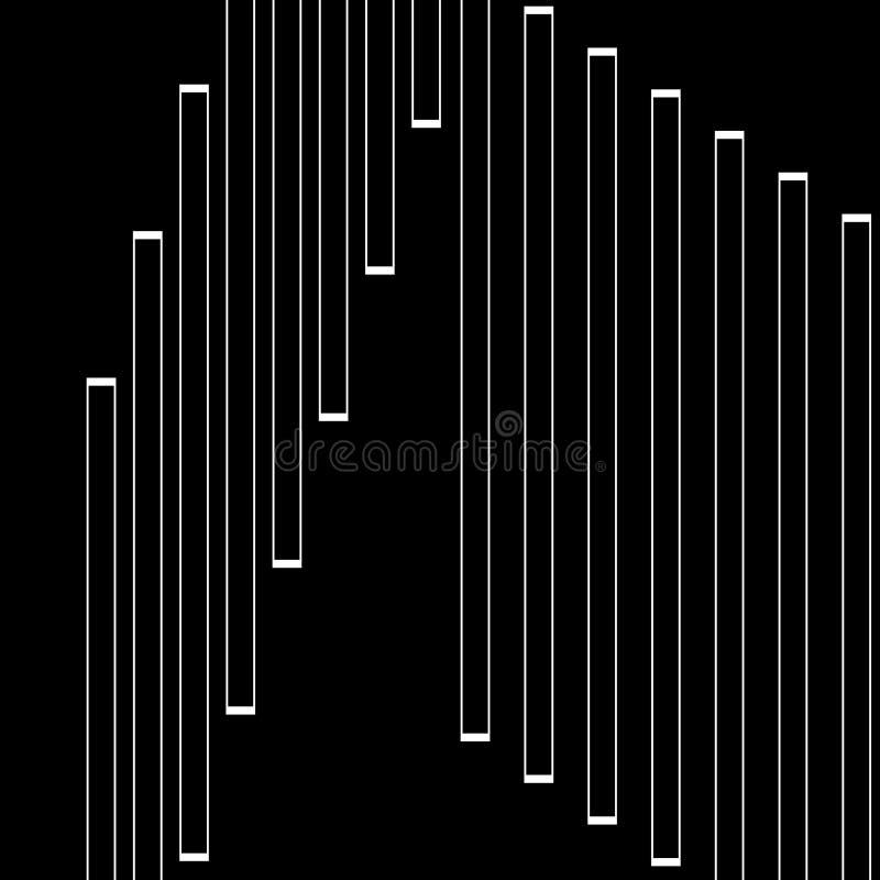 Schwarzweiss-Art Futterhintergrund in der Zusammenfassungs- und Wiederholungsform stock abbildung