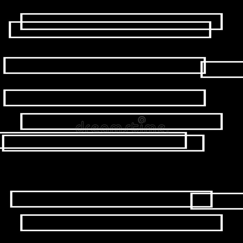 Schwarzweiss-Art Futterhintergrund in der Zusammenfassungs- und Wiederholungsform lizenzfreie abbildung