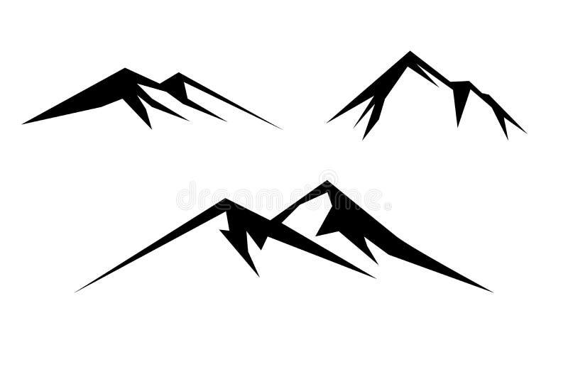 Schwarzweiss-Berg lizenzfreie abbildung