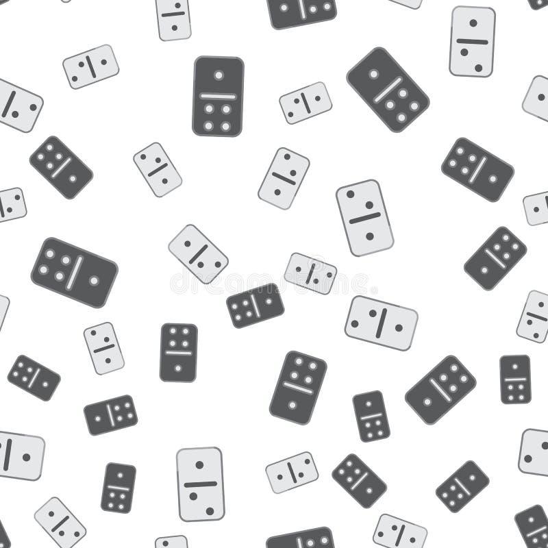 Schwarzweiss-Dominomuster Nahtloser Vektor lizenzfreie abbildung