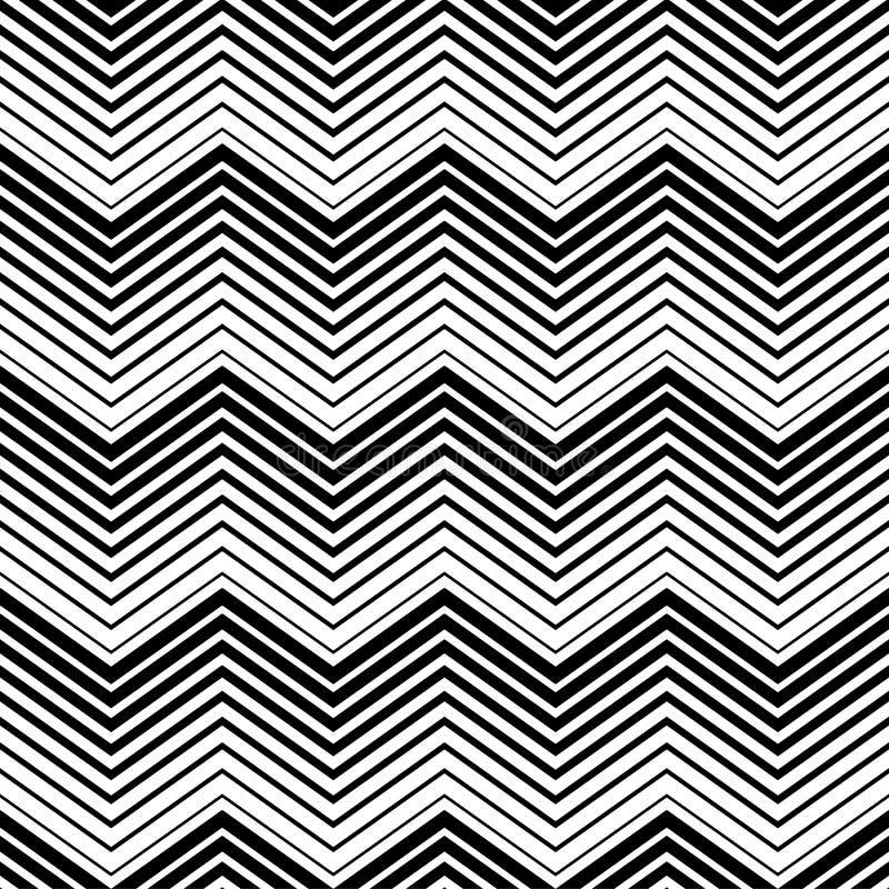 Schwarzweiss-Dreieck des abstrakten nahtlosen Musters mit Linie Art Nahtlose Zeilen stock abbildung