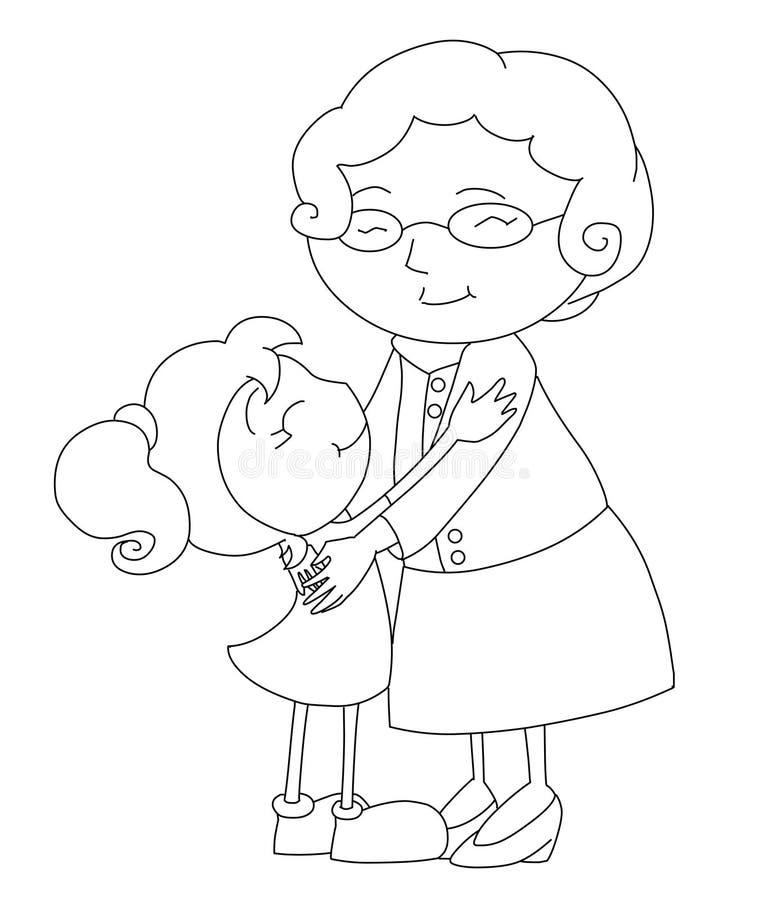 Schwarzweiss-Familienszene