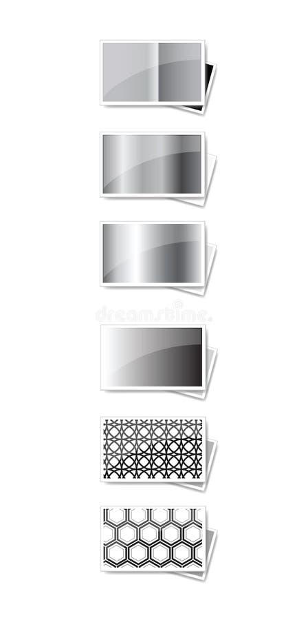 Schwarzweiss-Felder stock abbildung