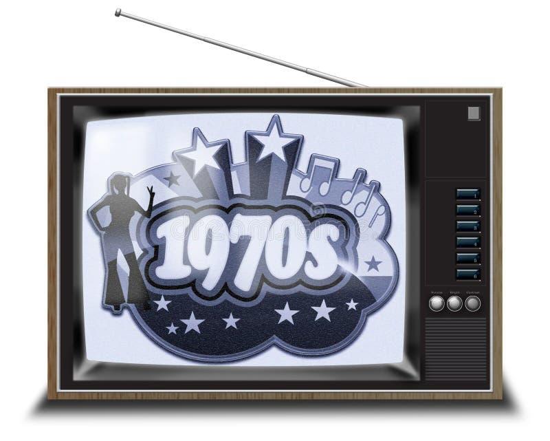 Schwarzweiss-Fernsehapparat stockbilder