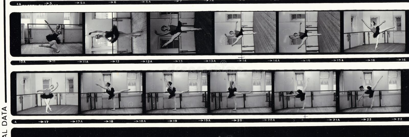 Schwarzweiss-Fotostreifen des Balletttänzers lizenzfreies stockbild