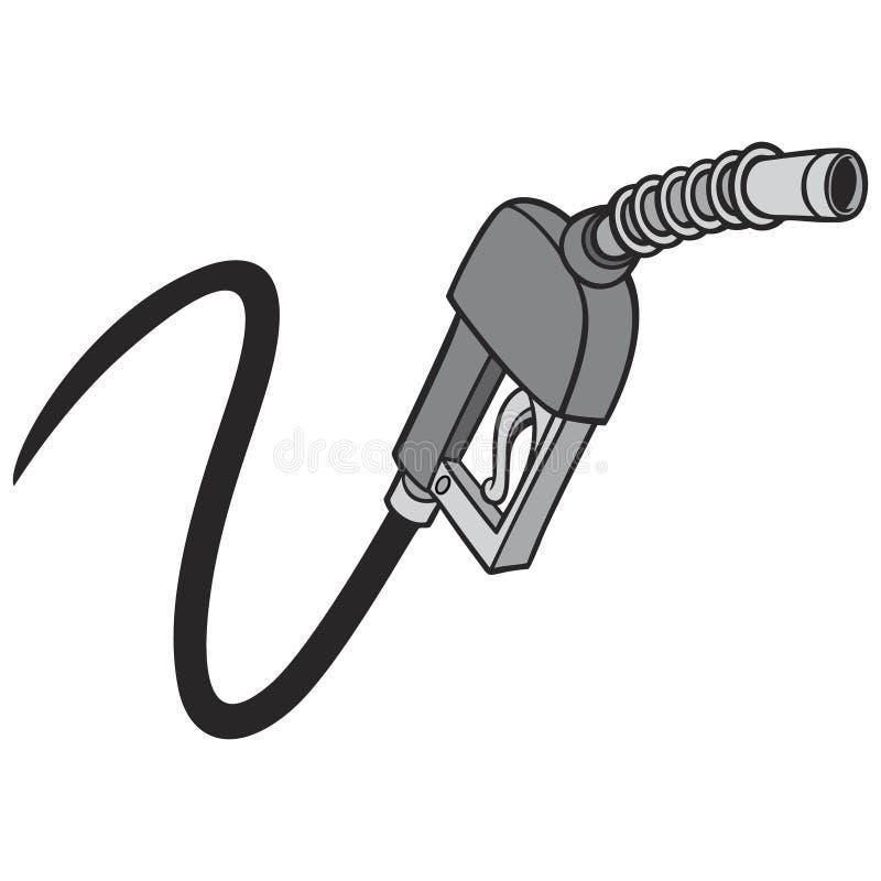 Schwarzweiss-Gas-Pumpe vektor abbildung