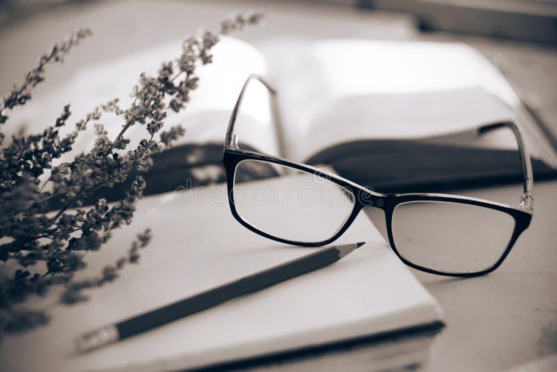 Schwarzweiss-Gedächtnis eines romantischen sentimentalen Stilllebens stockfotos