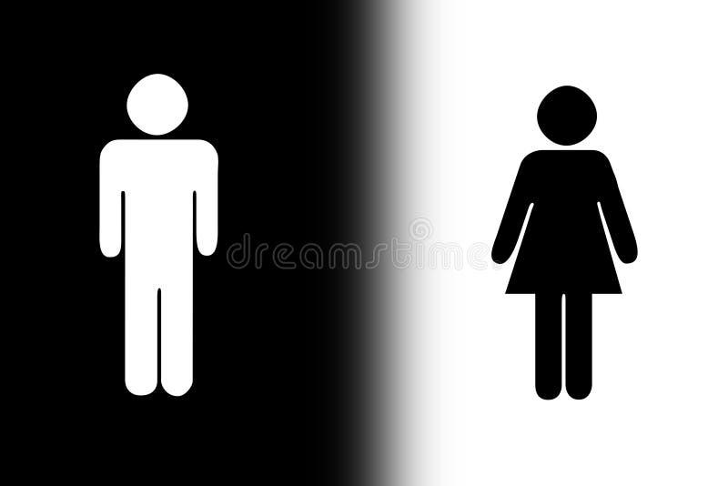 Schwarzweiss-Geschlecht stock abbildung