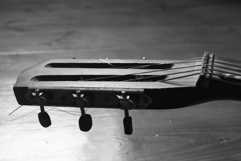 Schwarzweiss-Gitarre stockfotografie