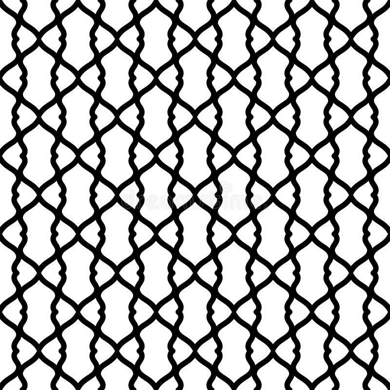 Schwarzweiss-Gitter-nahtlose Beschaffenheit stock abbildung