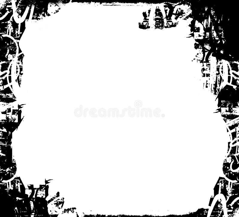 Schwarzweiss-grunge Rand stockfotos