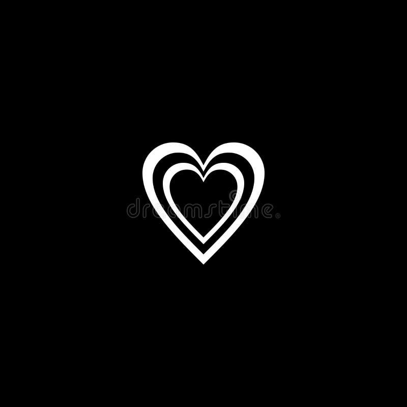 Schwarzweiss-Herzart, die Hintergrund in der Zusammenfassungs- und Wiederholungsform zeichnet stock abbildung