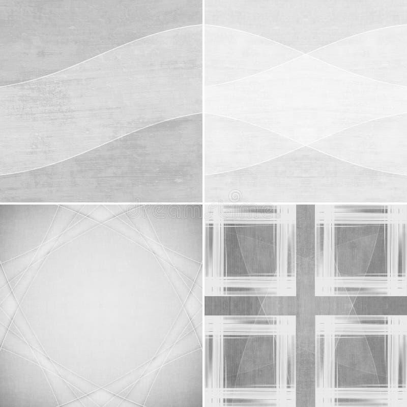 Schwarzweiss-Hintergründe des geometrischen Schmutzes stock abbildung