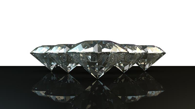 Schwarzweiss-Hintergrund von glittery Diamanten lizenzfreie stockfotografie