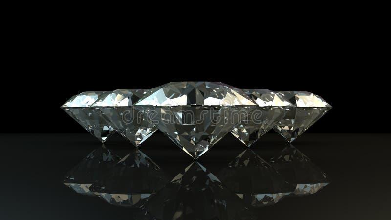 Schwarzweiss-Hintergrund von glittery Diamanten stockbilder