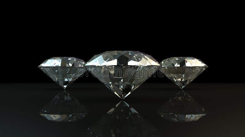Schwarzweiss-Hintergrund von glittery Diamanten lizenzfreies stockfoto