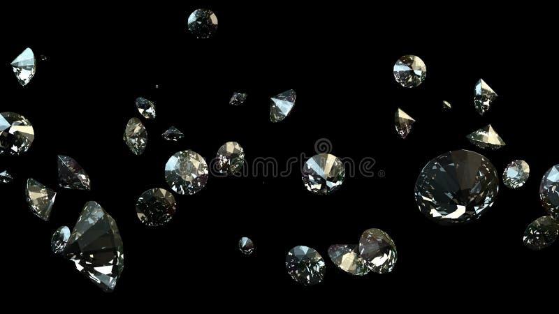 Schwarzweiss-Hintergrund von glittery Diamanten lizenzfreies stockbild