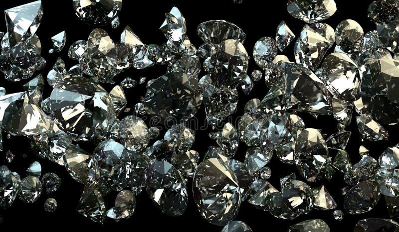 Schwarzweiss-Hintergrund von glittery Diamanten stockfotografie