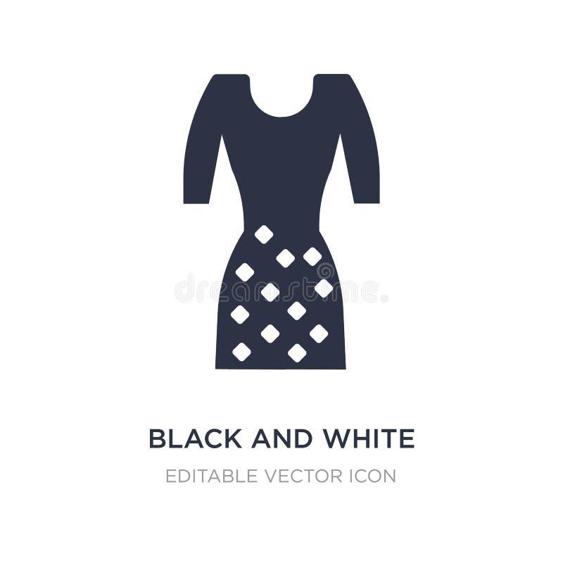 Schwarzweiss-Ikone auf weißem Hintergrund Einfache Elementillustration vom Modekonzept stock abbildung