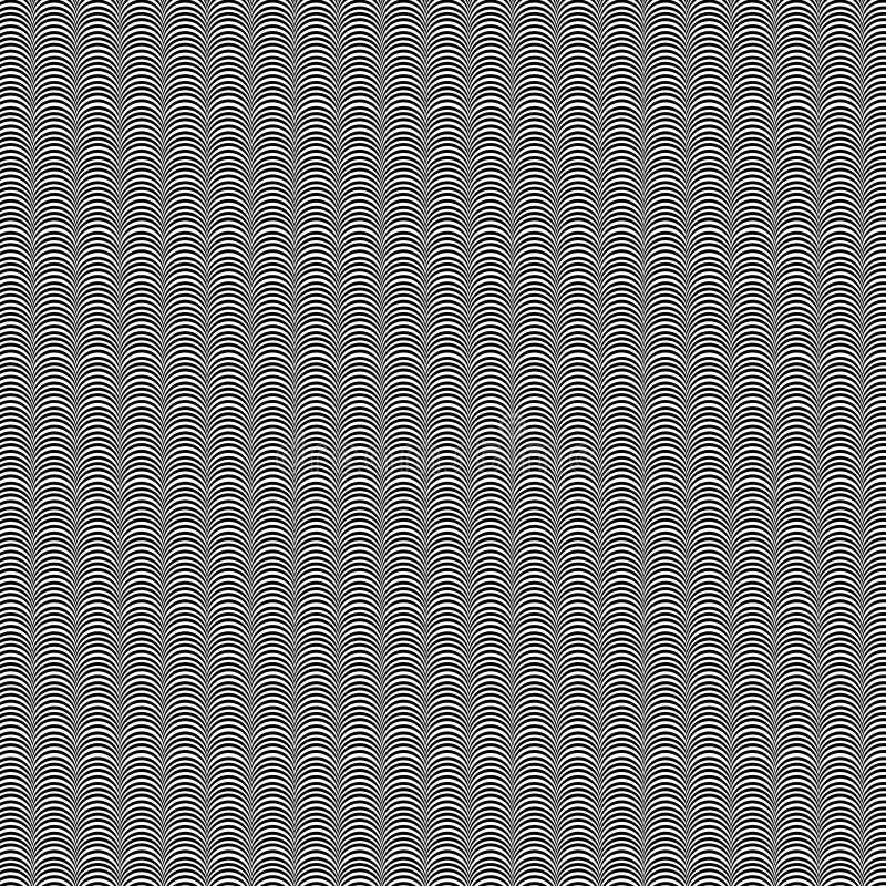 Schwarzweiss-Kamm-Muschel-Illustration lizenzfreie stockfotografie