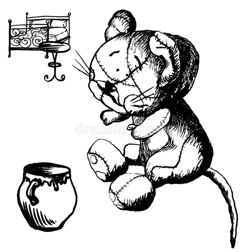 Schwarzweiss-Katze lizenzfreie abbildung