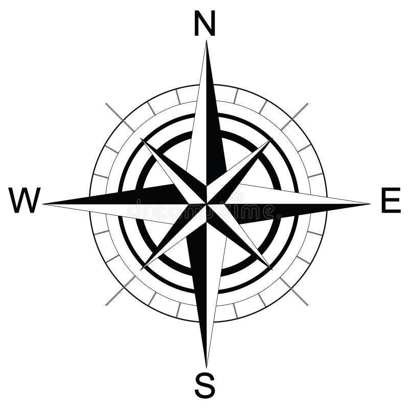 schwarzweiss kompass raster stock abbildung illustration compass clip art for kids compass clip art for kids