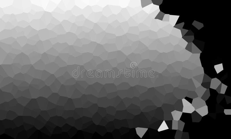 Schwarzweiss kristallisieren Sie prägeartigen Chromzusammenfassungshintergrund vektor abbildung