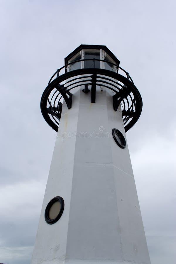Schwarzweiss-Leuchtturm stockfotografie