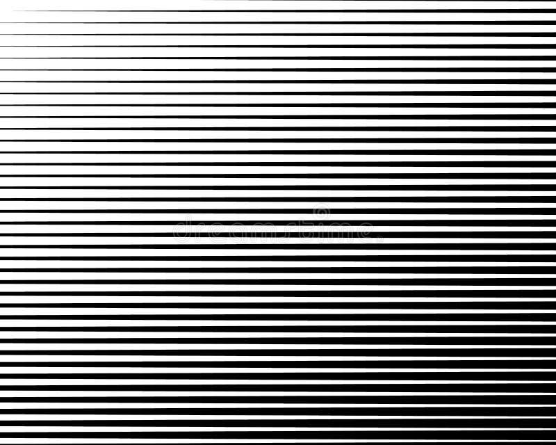 Schwarzweiss-Linie Halbtonmuster mit Steigungseffekt Horizontale Streifen Auch im corel abgehobenen Betrag lizenzfreie abbildung