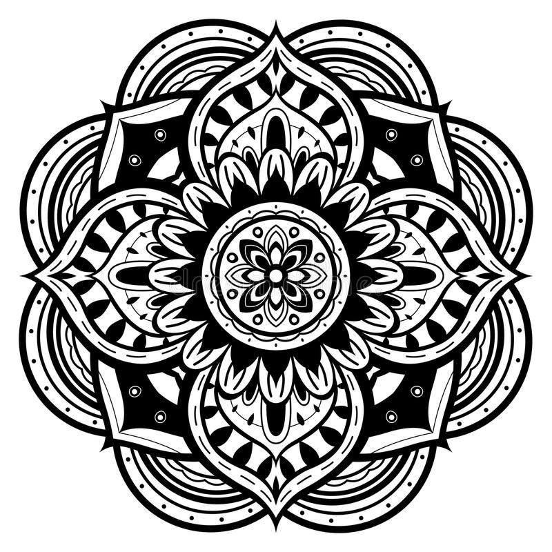 Schwarzweiss-Mandala
