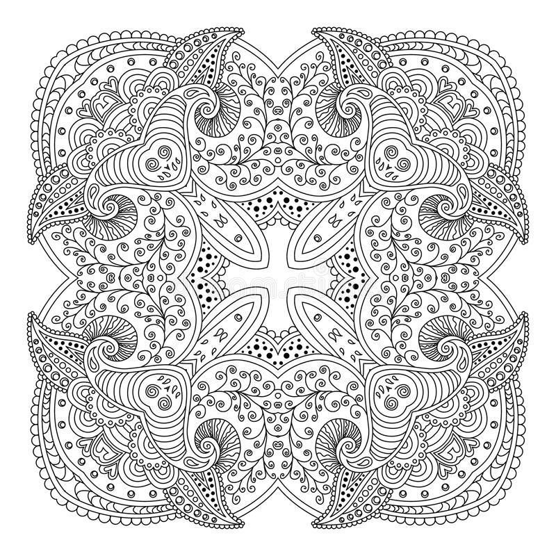 schwarzweiss mandala vektor abbildung illustration von gl ckw nsche 61548696. Black Bedroom Furniture Sets. Home Design Ideas