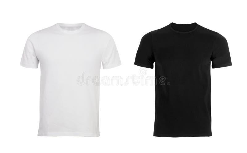 Schwarzweiss-Mann T-Shirt stockfotos